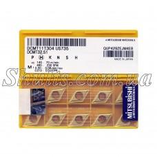 DCMT 11T304 US735 Твердосплавная пластина